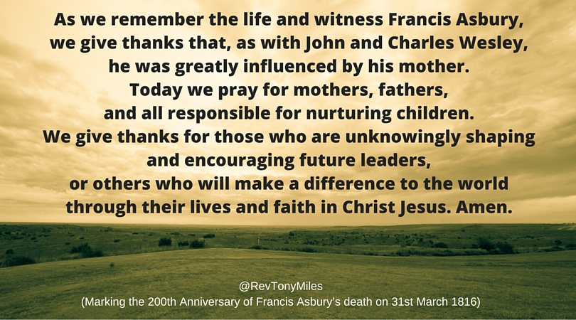 Francis Asbury's mother - prayer