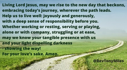 May we rise to the new day that beckons (spring)