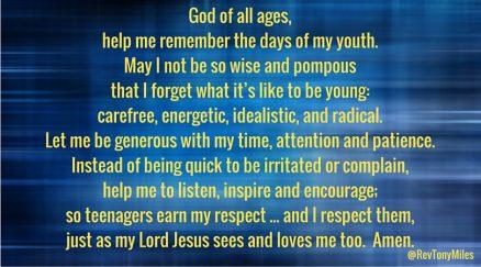 Days of my youth prayer