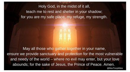 A safe place of sanctuary prayer
