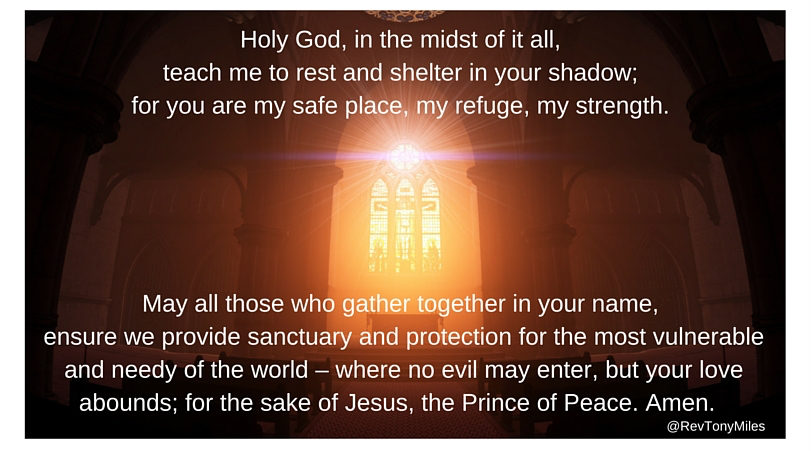 A safe place of sanctuary prayer